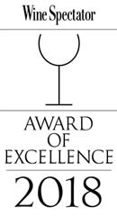 Wine Spectator - Award of Excellence 2018