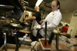 Chef Don Curtiss in the kitchen at Volterra Restaurant