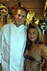 Don Curtiss and Michelle Quisenberry at the entrance to Volterra (Ballard) Restaurant