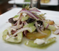 Volterra Restaurant Tomato Cucumber Salad